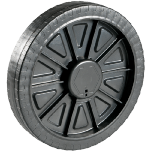 One Piece Plastic Wheel Assembly